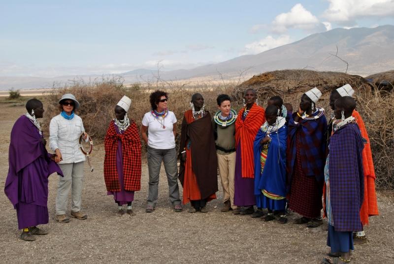 Visitando un poblado masai. Por Gemma