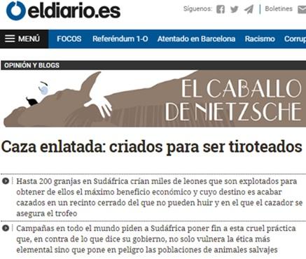 Caza enlatada en eldiario.es
