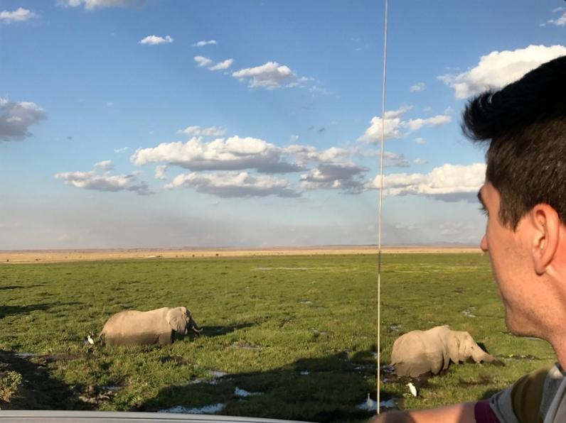 Disfrutando Amboseli. Por Ana