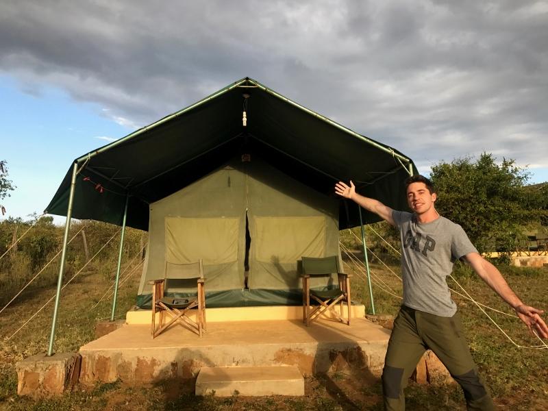 Guille en campamento Fisi Camp. Por Ana