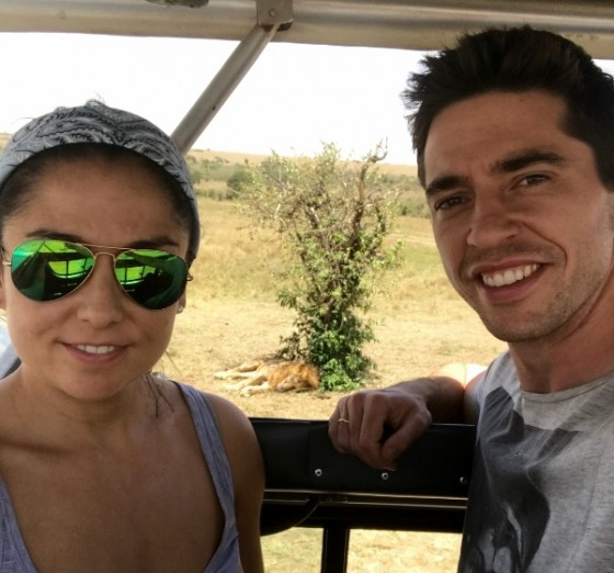 Guille y Ana de safari. Por Guille