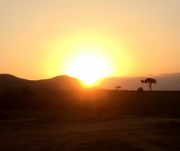 Amanece en Masai Mara. Por Paula
