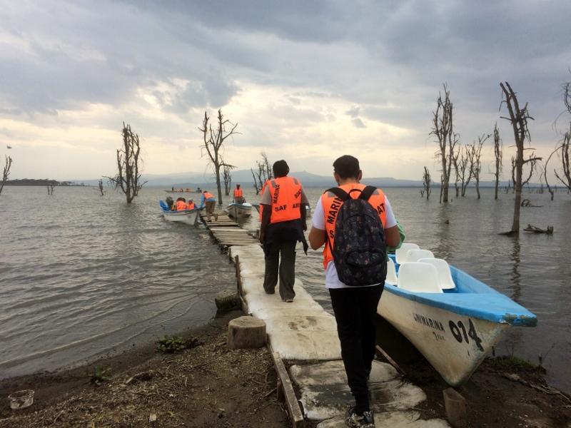 Embarcadero de lago Naivasha. Por Paula