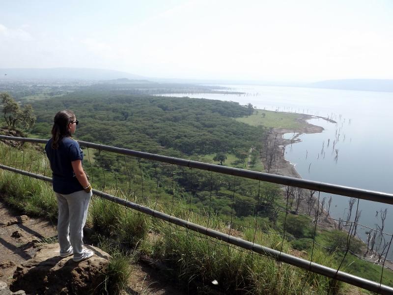 Mirador del lago Nakuru. Por Paula