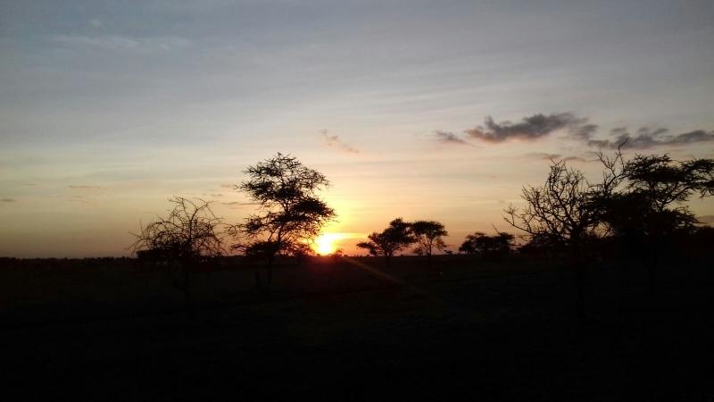 Puesta de sol en Serengeti. Por Eduardo