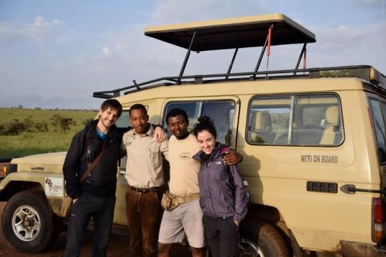 Paco, Paul, Johnson y Elena de safari. Por Elena