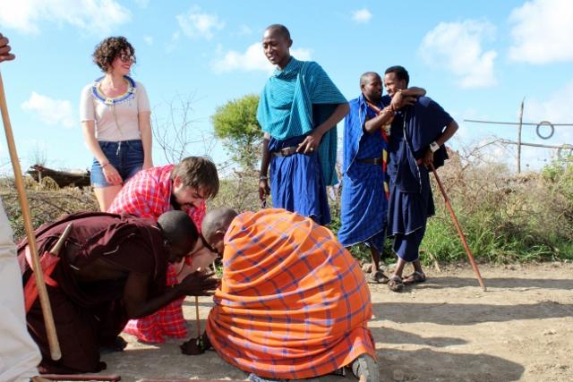 Visitando un poblado masai. Por Judith