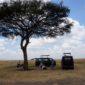 Comiendo en Masai Mara. Por Isabel