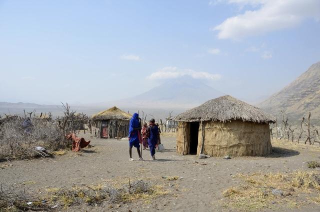 Poblado masai en Natron. Por Montse