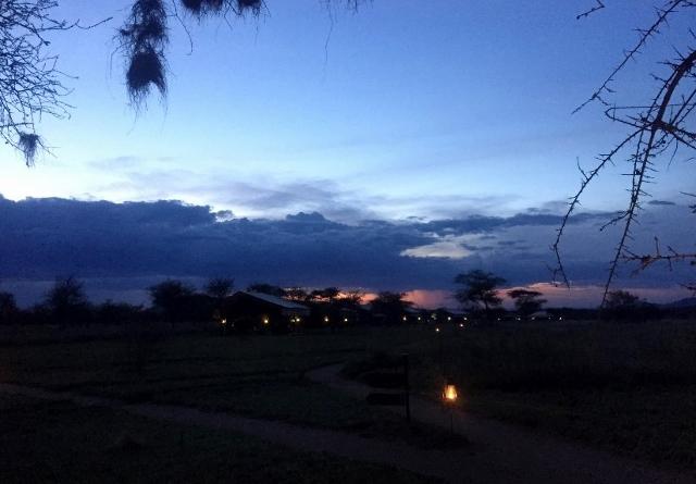 Atardece en el P.N. del Serengeti. Por Noelia