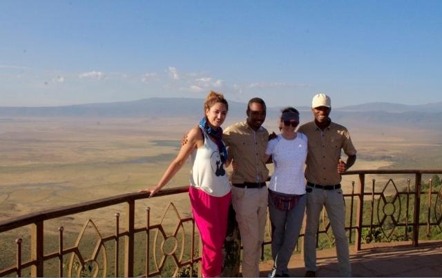 Vista panoramica en el crater del Ngorongoro con Paul y Joshua, 2. Por Noelia