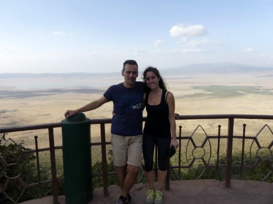 Desde el mirador de Ngorongoro. Por Gisela