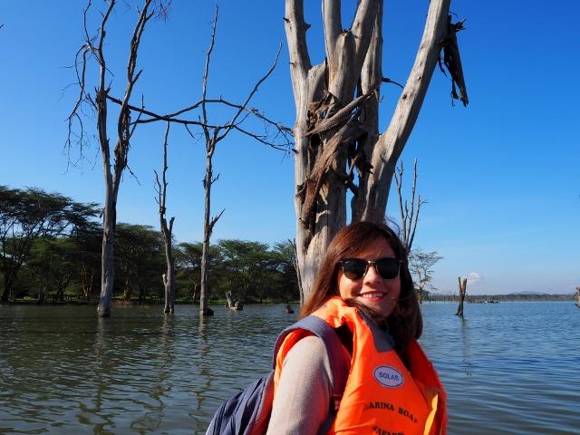 Paseo en barca en Naivasha. Por María