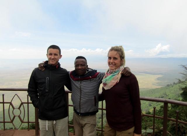En el mirador de Ngorongoor. Por Marina