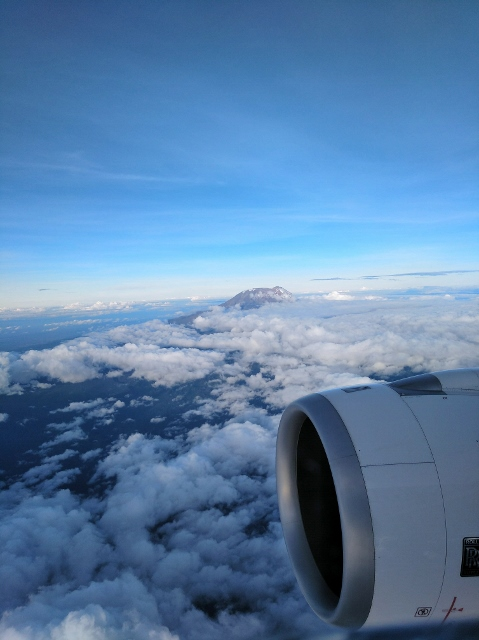 Kilimanjaro desde el avión. Por Wenceslao
