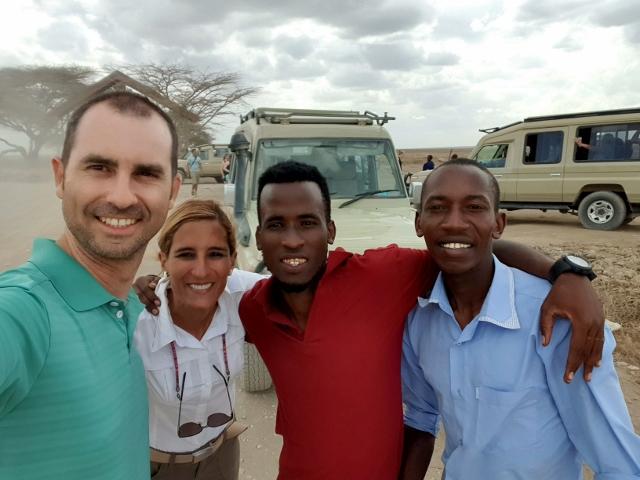 Con Ernest y Joshua. Por Pablo