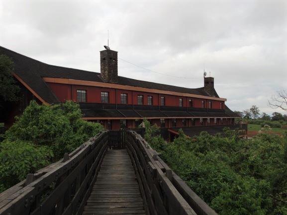 Hotel The Ark en Parque Nacional Aberdare. Por Udare