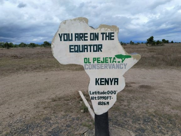 Punto del Ecuador en Ol Pejeta Conservancy. Por Udare