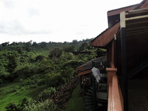 Vistas desde uno de los balcones del hotel The Ark en Aberdare. Por Udare