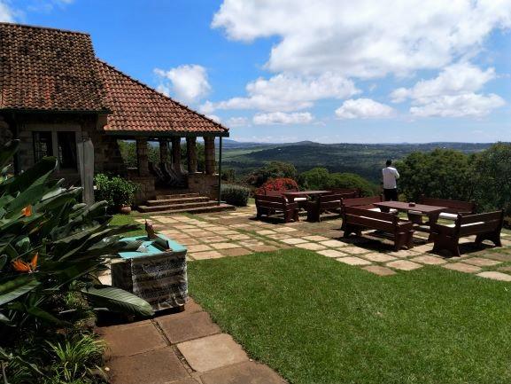 Zona exterior del hotel Aberdare Country Club. Por Udare