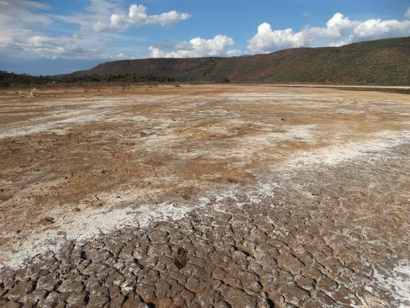 Suelo salino en Lago Bogoria. Por Udare