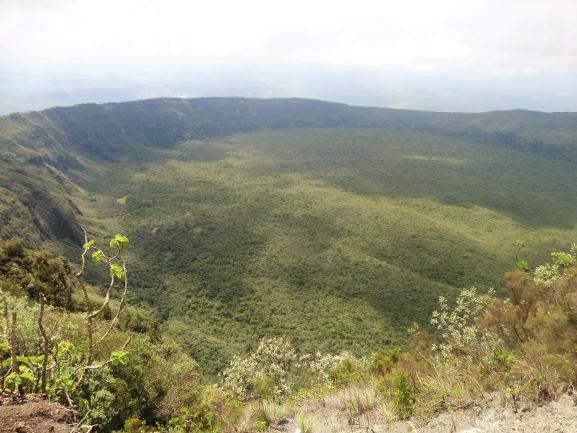 Vistas del cráter. Por Udare