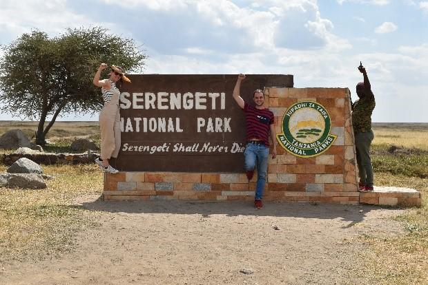 En Serengeti junto a Lawrence. Por Naiara