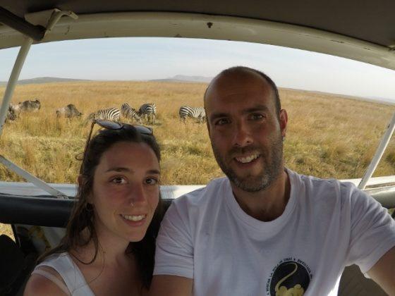 Josep y Emma, en Masai Mara. Por Josep