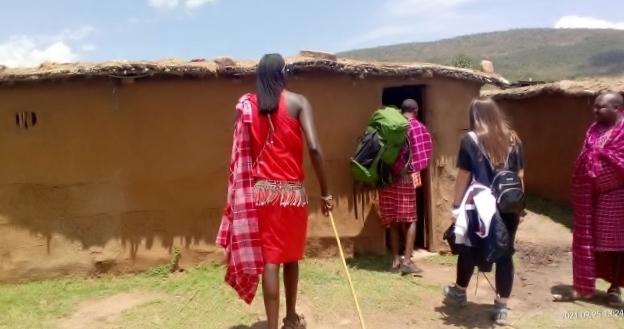 Casas masais de adobe. Por Udare